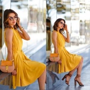 Banana Republic Mustard Yellow Sleeveless Dress